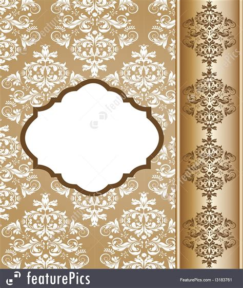 templates vintage damask invitation template stock