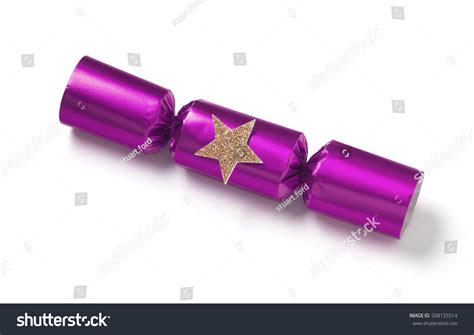 pink christmas crackers pink cracker stock photo 508125514