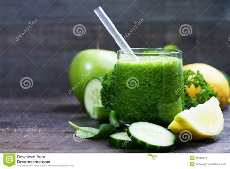 Parsley Green Smoothie Detox by Fresh Organic Green Smoothie With Cucumber Parsley And
