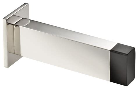 modern door stop stainless steel wall doorstop polished rectangle
