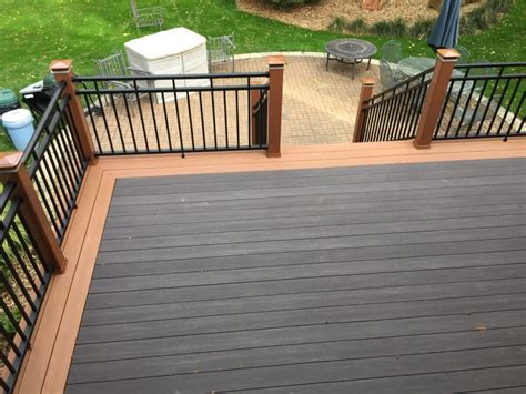 composite deck zbest fencing decking railing green