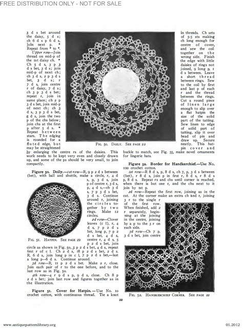 antique pattern library priscilla apl b ja034 priscilla tatting book no 2 page 23