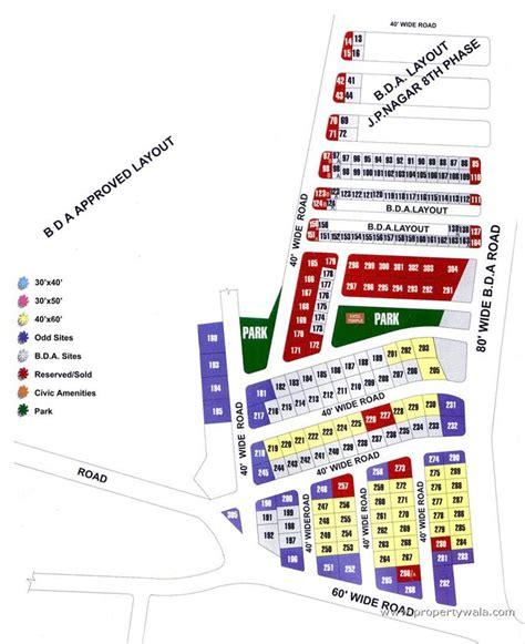 layout plan in bangalore royal county jp nagar bangalore residential plot