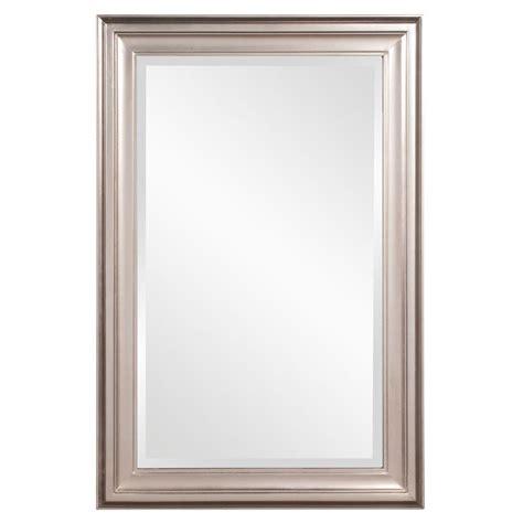 Brushed Nickel Vanity Mirror by 36 In X 24 In X 1 In Brushed Nickel Rectangular Vanity