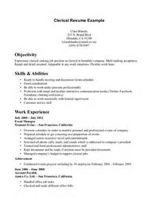 Resume Sles Clerical Clerical Resume Sales Clerical Lewesmr