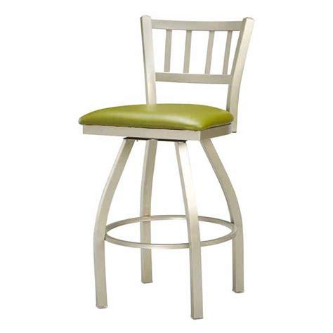 metal padded swivel bar stools regal jailhouse 26 in swivel metal counter stool with