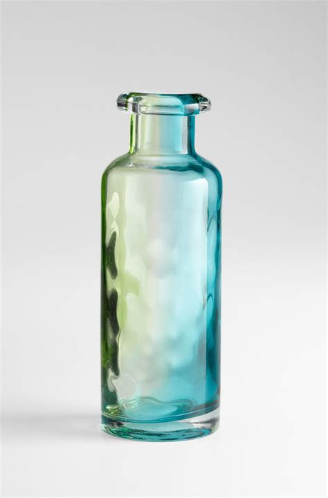 Blue Green Vase Large Rigby Blue Green Glass Vase By Cyan Design