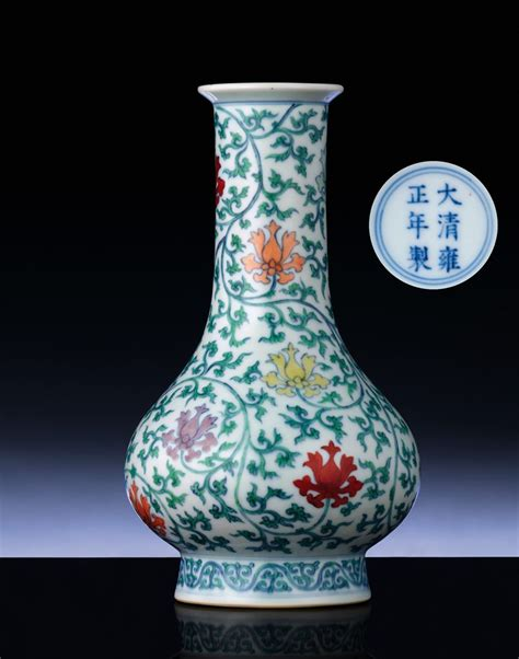 an extremely ming style doucai vase christie s