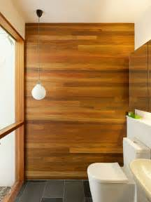 decorating bathroom wood panelling walls