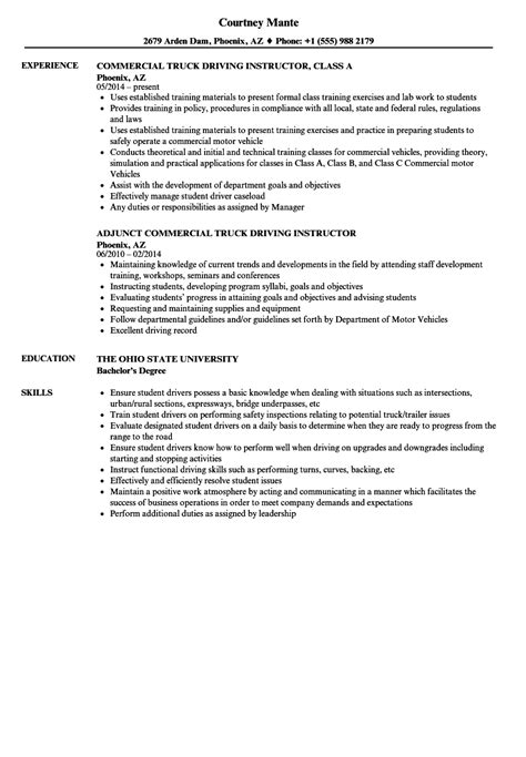 Instructor Resume by Driving Instructor Resume Sles Velvet