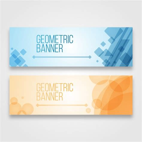 design free online banner geometric banners design vector free download