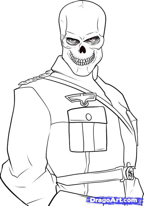 Coloring Pages Of Red Skull | pin evil skull drawing on pinterest