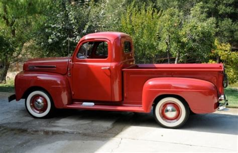 red christmas vintage pick ups for sale bat exclusive clean 1949 ford f1 up bring a trailer