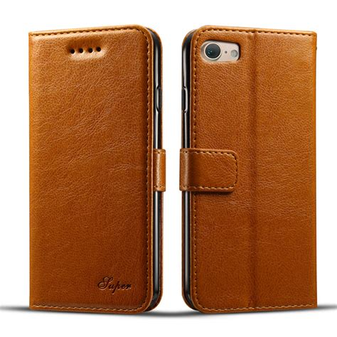 Best Deal Flip Leather For Iphone 7 Plus 8 Plus Brown kds vintage luxury pu leather for iphone 7 7 plus