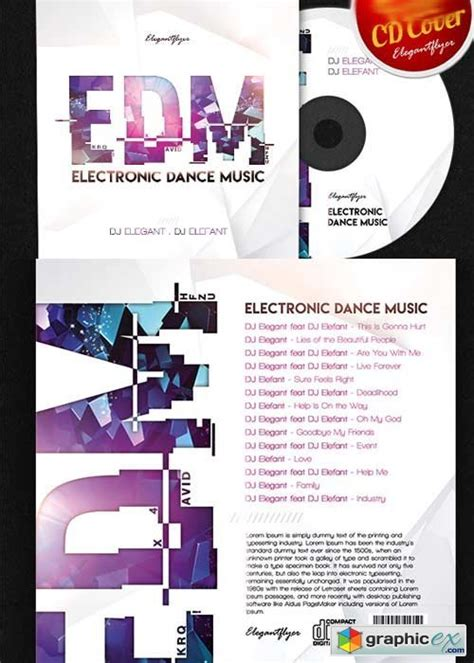 edm cd cover psd template 187 free download vector stock