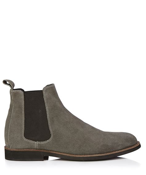grey chelsea boots mens w11 atelier italian collection cage grey suede leather
