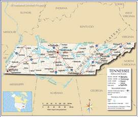 map of and tennessee reference map of tennessee usa nations project