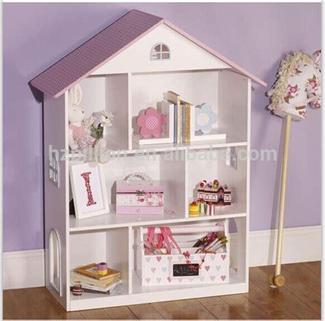 schrank hausform mooie witte europese stijl houten poppenhuis boekenkast