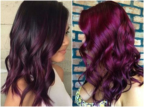 60 burgundy hair color ideas maroon purple plum