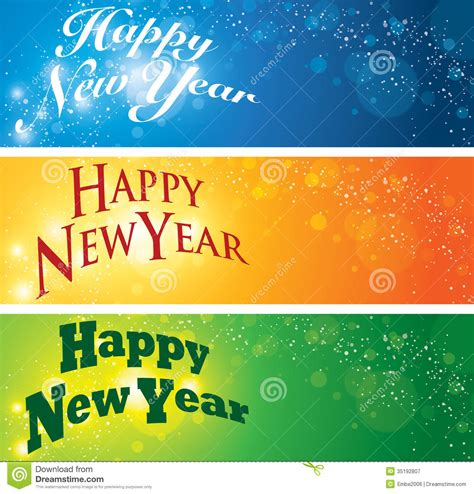 new year banner sparklebox happy new year banner stock vector image of year words