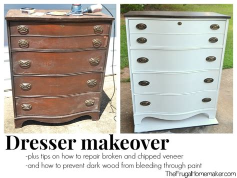 How To Makeover A Dresser by Dresser Makeover How To Fix Chipped Veneer Deal With