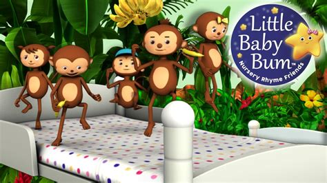 youtube monkeys jumping on the bed five little monkeys jumping on the bed part 1 in hd from littlebabybum youtube