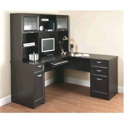 magellan l shaped desk hutch bundle officemax deal realspace magellan 226 œl 226 desk and hutch