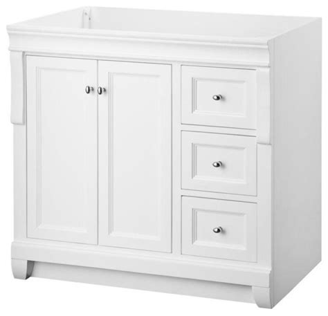 naples vanity cabinet only white 36 wx21 d