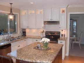 White Stained Cabinet Kitchen Contrasting Stained Wood And White Painted Cabinets Kitchen Cabinetry Other By Style Line