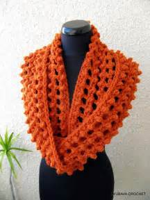 How Do You Crochet An Infinity Scarf You To See Crochet Infinity Orange Scarf By Lyubava