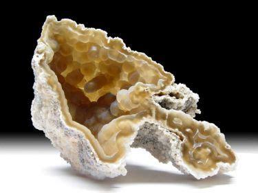 Honey Quartz 006 achatisierte korallen mineralien aus den usa