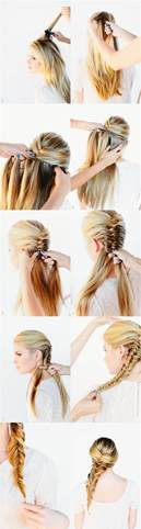 fishtails with braided hair fishtail braid hair tutorial once wed