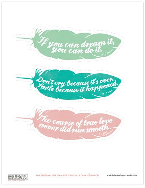 Free Printable Bookmarks With Quotes | printable bookmarks with quotes quotesgram