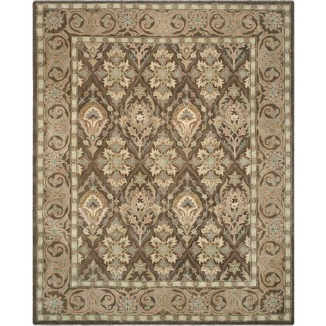 8 X 10 Area Rugs Safavieh Anatolia Brown Beige 8 Ft X 10 Ft Area Rug An587c 8 The Home Depot
