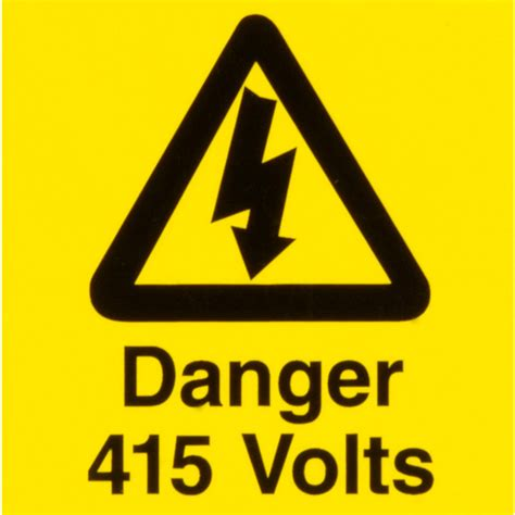 12 Warning Signs Your Is In Danger electrical warning signs danger 415 volts