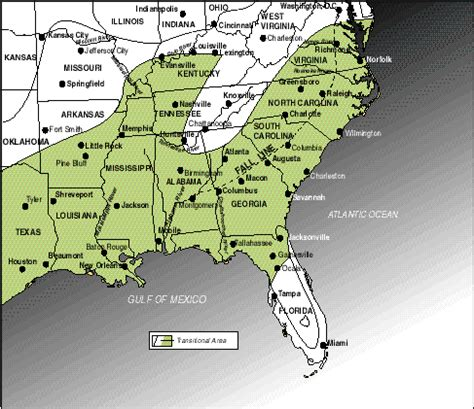 map of the south an outline of american geography map 7