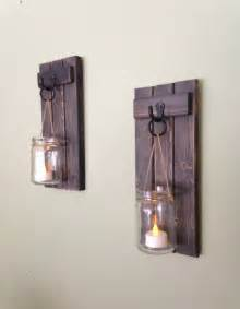 Candle Holder Wall Sconces Wooden Candle Holder Rustic Wall Sconce Jar Candle