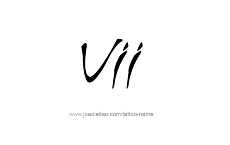 roman numeral 7 tattoo designs vii numeral designs page 3 of 4 tattoos