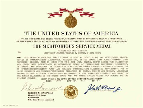 meritorious service medal citation template 16 images of msm template bosnablog