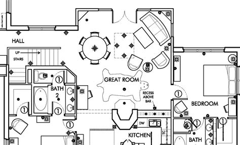 house layout plan drawing telluride colorado ski villa architectural drawing