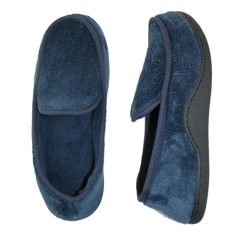 outdoor slippers for mens microterry memory foam indoor outdoor slip on