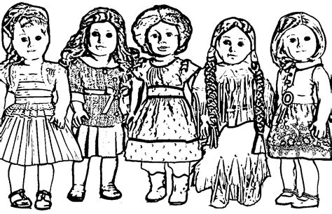 free coloring pages of american girl dolls american girl doll coloring pages wecoloringpage