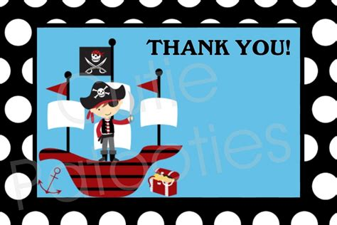 free printable pirate thank you card template blank invitations card stock and blank envelopes you print