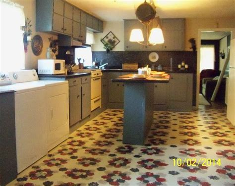 diy kitchen floor ideas stenciling linoleum floors hometalk