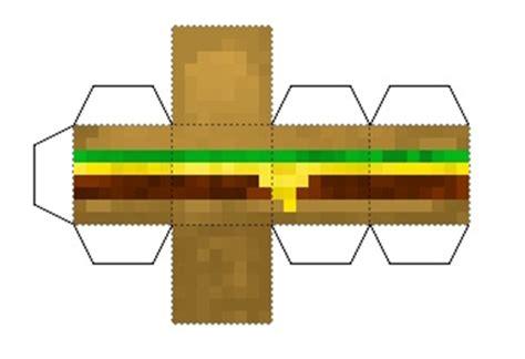Minecraft Papercraft Food - papercraft burger