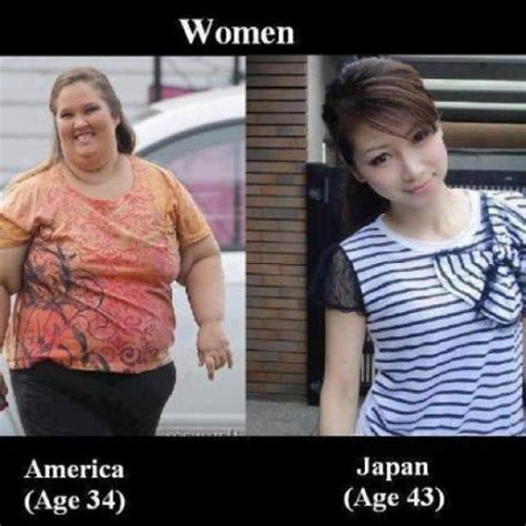 Asian Lady Meme - women america age 34 japan age 43