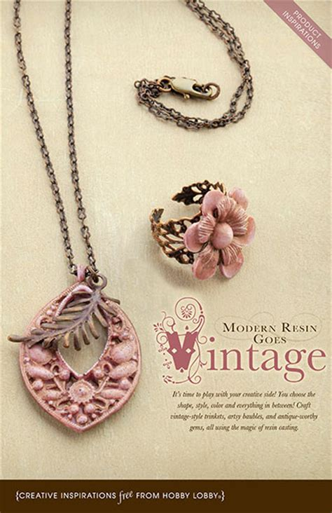hobby lobby jewelry supplies hobbylobby projects modern resin goes vintage