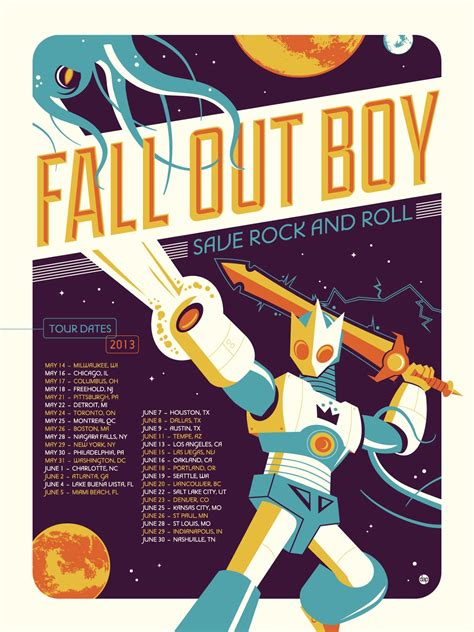 design poster band fall out boy dave perillo tour poster poster it