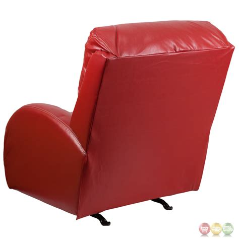 red leather rocker recliner contemporary ty red leather rocker recliner