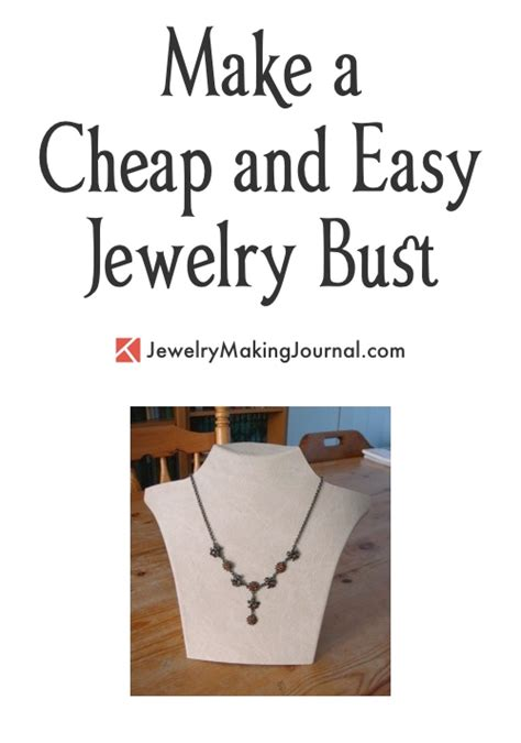 how to make cheap jewelry make a necklace display a cheap easy way to create a